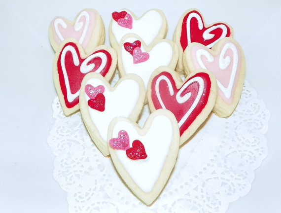 Heart love wedding cookie