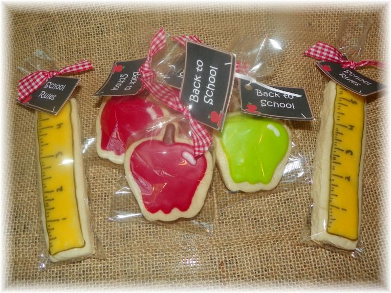 cookie school teacher apple ruler favor