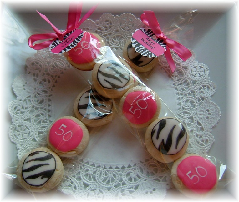zebra print cookie birthday