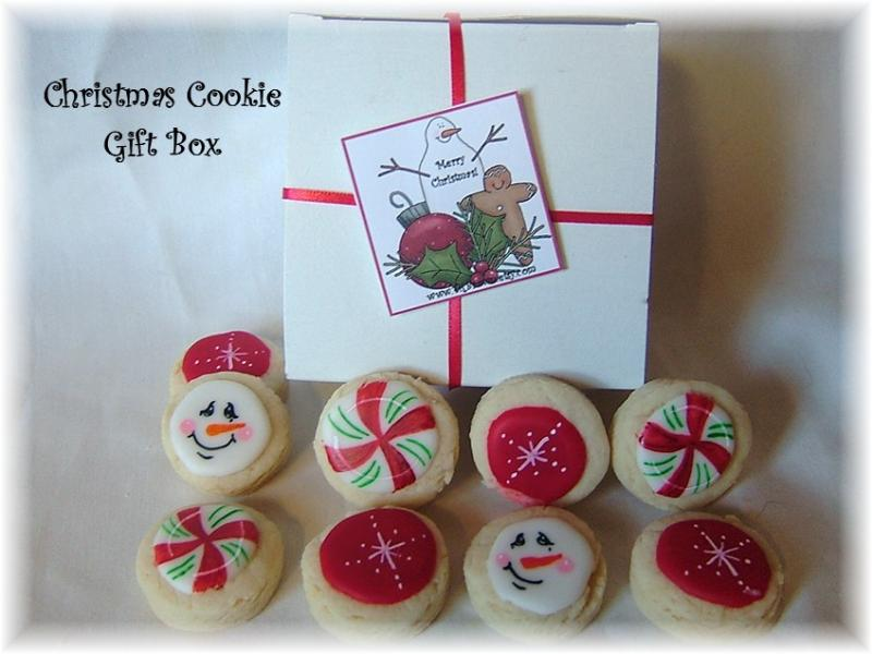 christmas snowman cookie