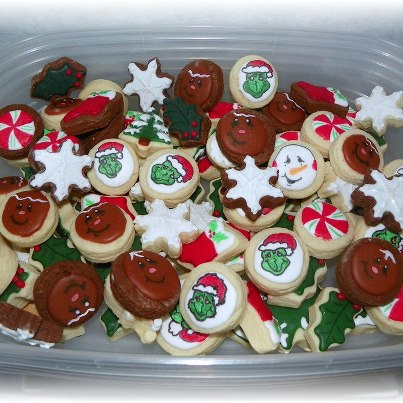 Christmas variety reindeer,snowman,grinch cookie