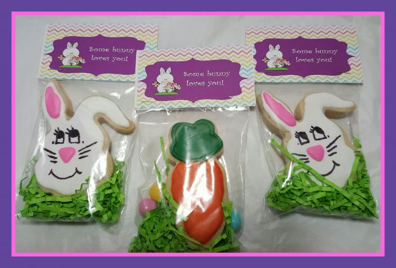 Easter Bunny Carrot Cookie