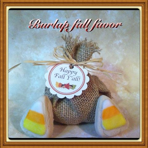 burlap cookie favor wedding birthday