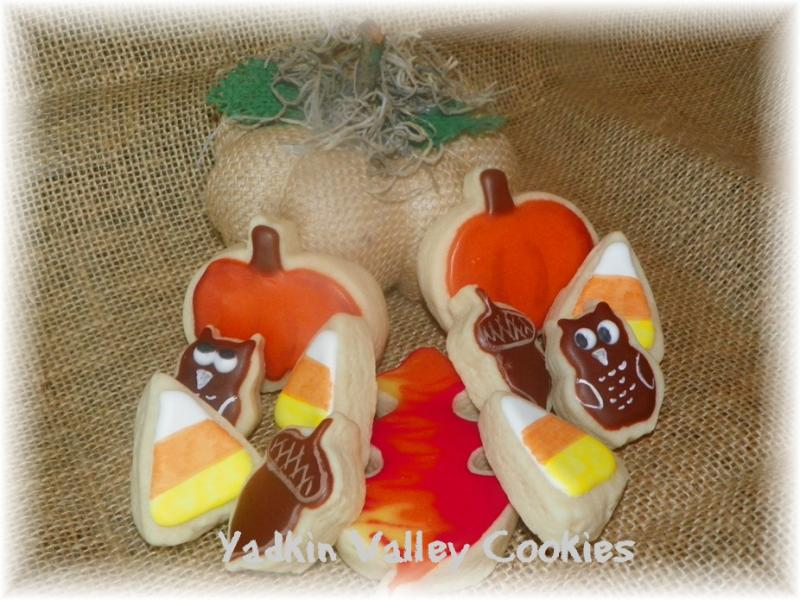 fall owl pumpkin cookies