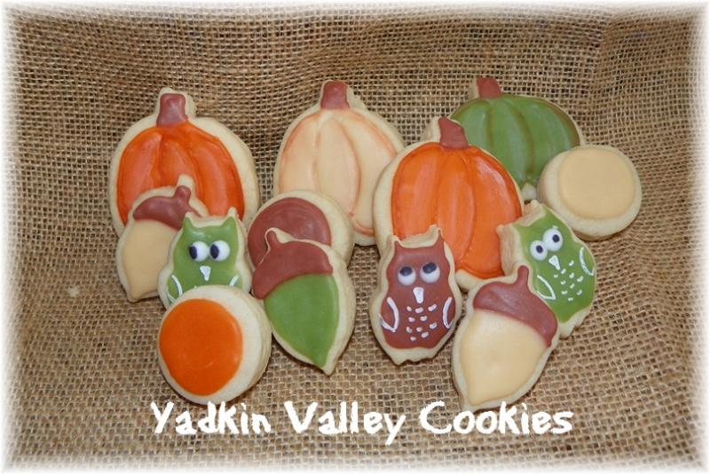 fall owl pumpkin cookie