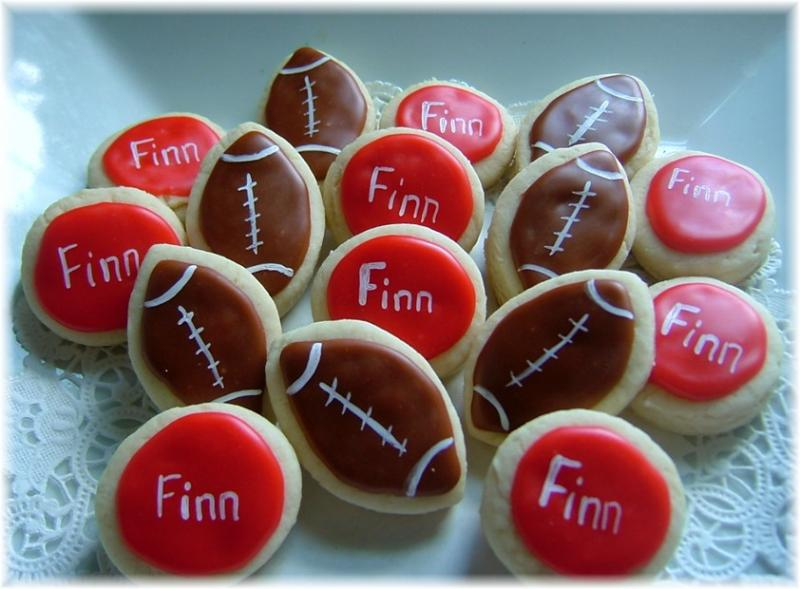 football cookies birthday