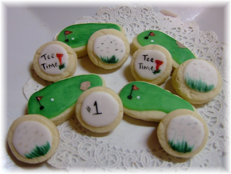 golf cookies, father's day cookie