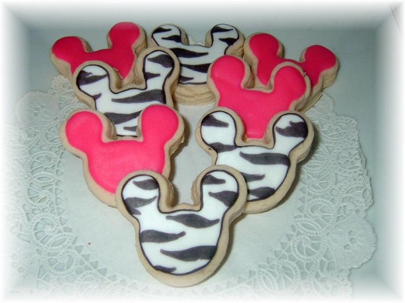 Mickey Minnie Mouse cookie birthday