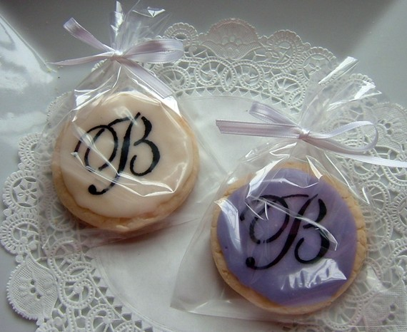 monogram cookie favor