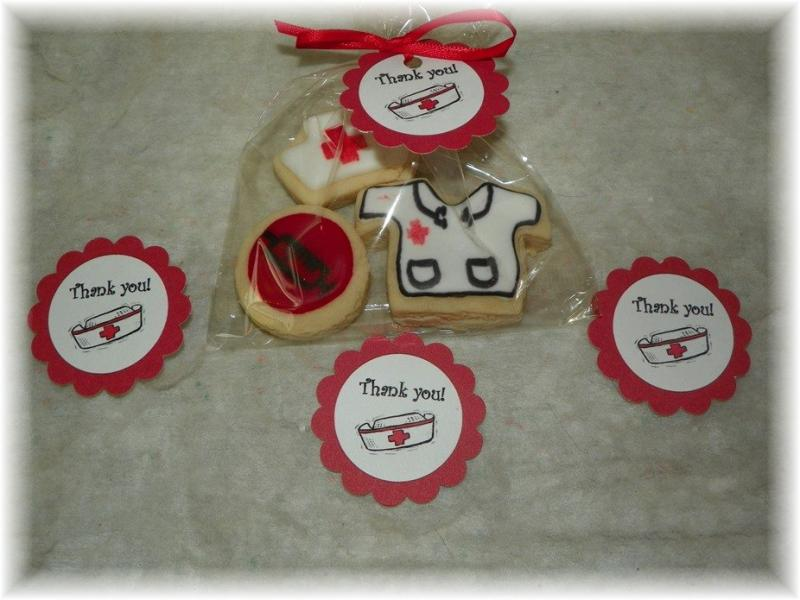 Nurse thank you graduation cookie favor
