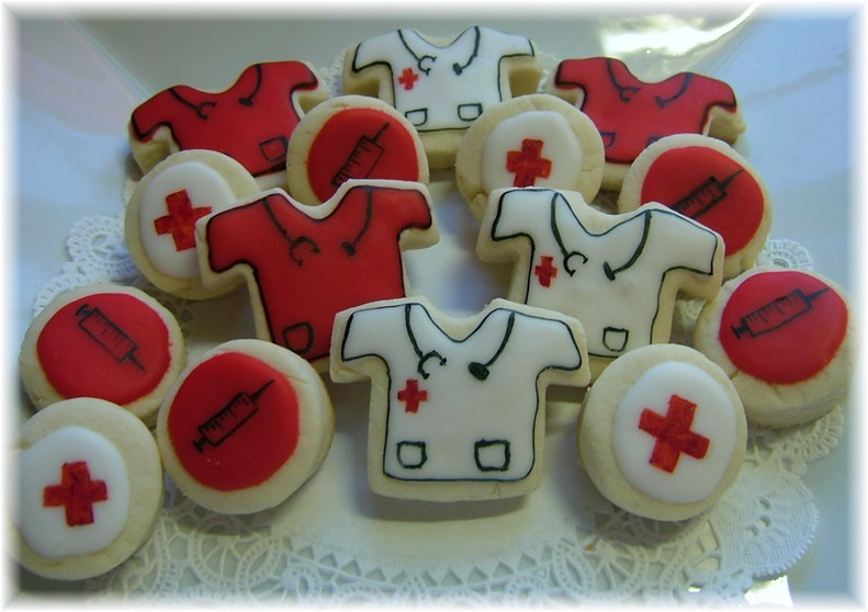 nurse doctor cookie