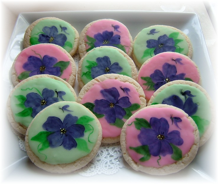 painted pansy cookie