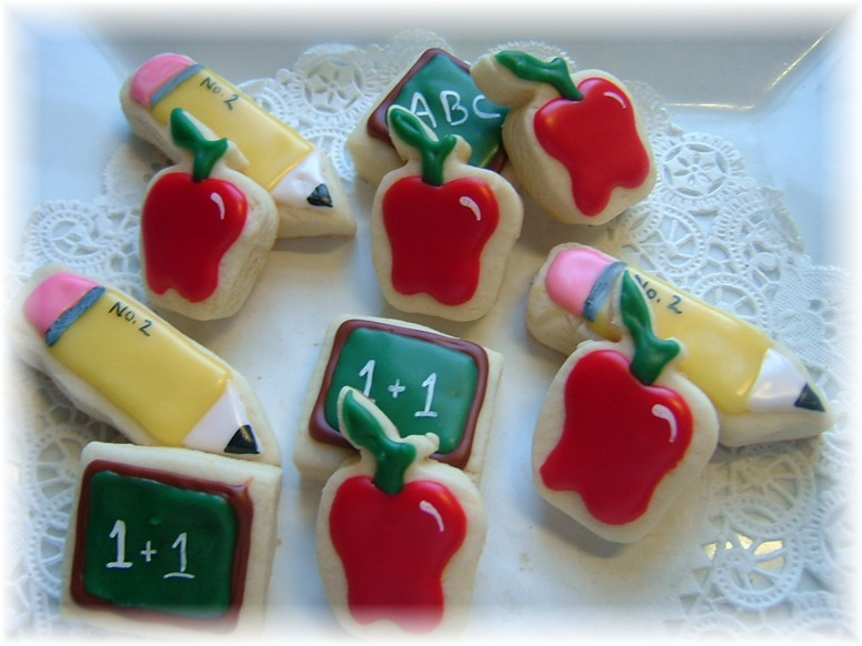 teacher school cookie