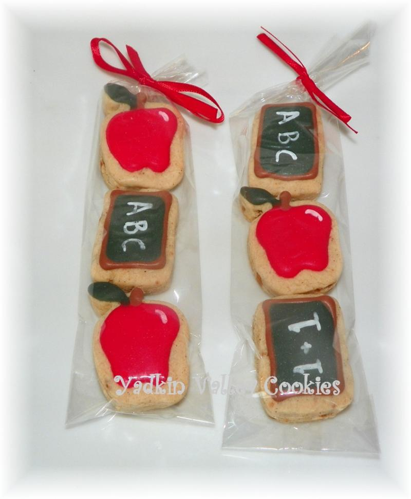 apple teacher cookie favor