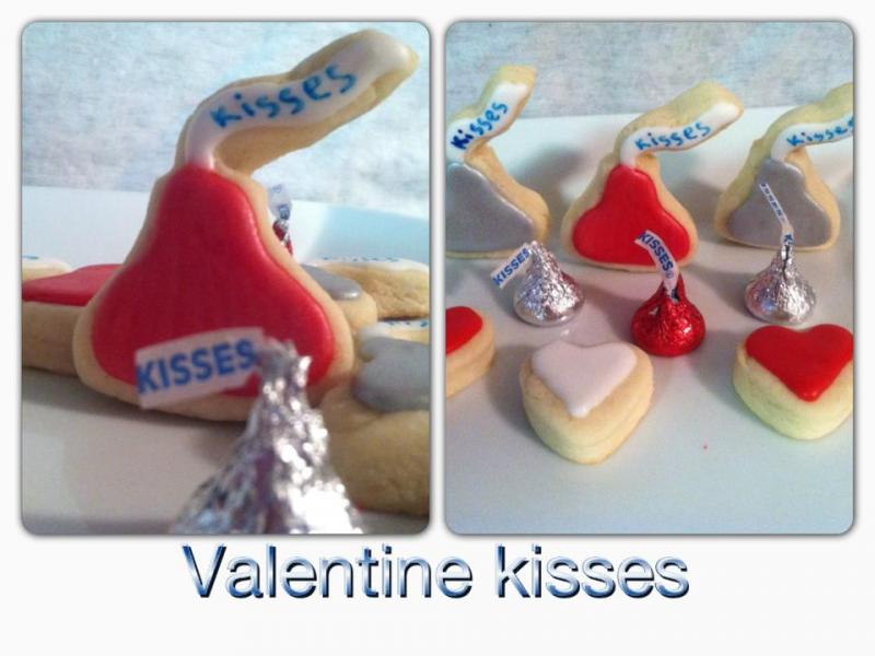 Valentine hershey kiss cookie