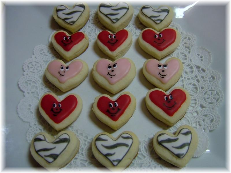 valentine love cookies