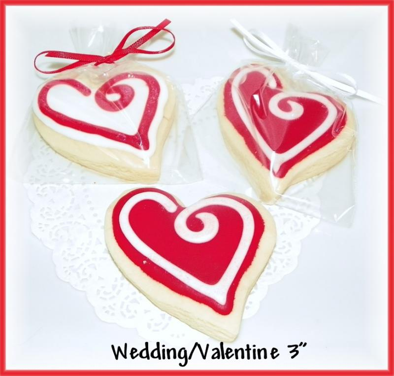 wedding heart cookie valentine