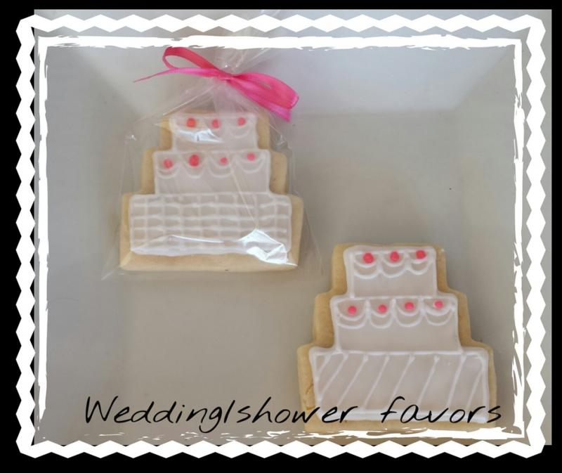wedding cookie cake favor