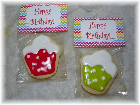 birthday cupcake cookie favor