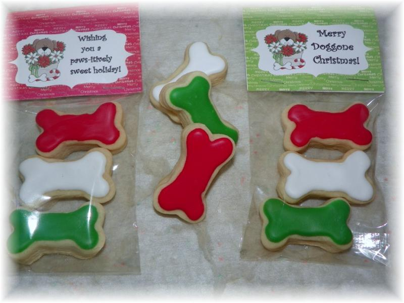 christmas dog favor cookie