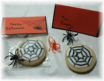 halloween fall spider web cookie favor